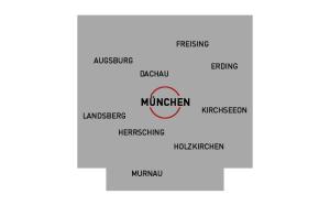Einzugsgebiet München und Umgebung
